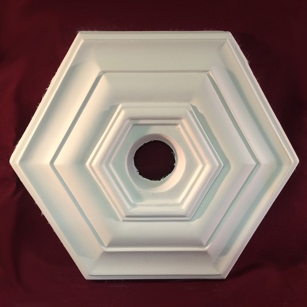 art deco hexagonal ceiling centre ceiling rose 380mm. Black Bedroom Furniture Sets. Home Design Ideas